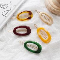 Charm Women Acrylic Geometric Hair Clips Barrette Stick Hairpin Hair Accessories