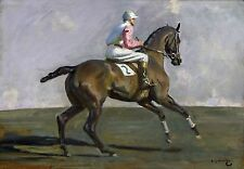 "Sir Alfred Munnings, Study For Going to the Start, Horse Racing, Jockey, 20""x14"""
