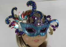 """Mardi Gras Mask Blue for 18"""" American Girl Doll Clothes Widest Selection Online"""