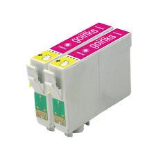 2 Magenta Ink Cartridges for Epson Stylus Photo R240 R245 RX420 RX425 RX520