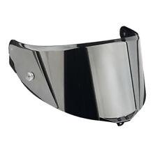 Caschi per la guida di veicoli argento moto visiera antigraffio