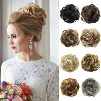 Natural Curly Messy Messy Bun Hair Piece Scrunchie Hair Extensions Hairpiece US