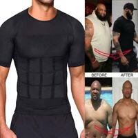 Men Slimming Body Shaper Posture Corrector Vest Abdomen Compression T-Shirt Top