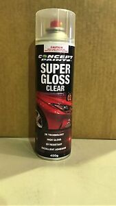 CONCEPT 2K SUPER GLOSS CLEAR AEROSOL/SPRAYCAN TOUCH UP 400g AUTO PAINT TOP COAT