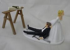 Wedding Reception Carpenter Tools Wood Saw Horse Shop Garage Cake Topper
