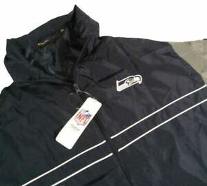 NFL Seattle Seahawks Men Windbreaker Extra Large Blue Jacket 04P