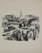 Robert DELAUNAY - lithographie originale - Paris, la Seine et la Tour