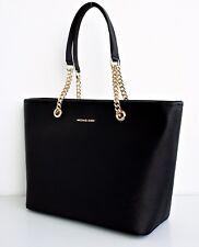 Michael Kors Tasche/Bag JET SET TRAVEL CHAIN Saffiano-Leder Black/Gold NEU