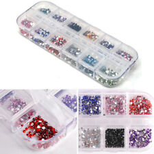 3000pcs DIY Nail Art Tips Charm Gems Crystal Glitter Rhinestones 3D Decor Wheel