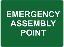 """Safety Sign """"EMERGENCY ASSEMBLY POINT 5mm corflute 300MM X 225MM"""""""