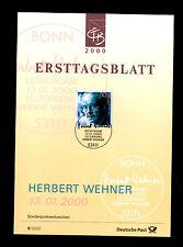 (Ref-4930) Germany - Ersttagsblatt - 1980 Herbert Wehner SG.2941