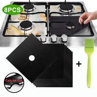 Eg _ 8PCS Réutilisable Gaz Poêle Haut Cuisinière Protection Chaleur Résistan