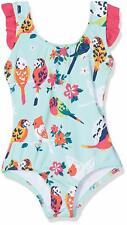 Hatley Girls' Bow Back Ruffle Swimsuit, Tropical Birds, 2