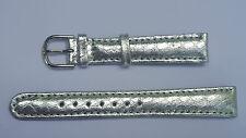 BRACELET MONTRE CUIR VÉRITABLE BOUCLE ARGENTE /* ARGENTE /* 14 mm REF.DK28
