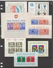 D0831: Switzerland Souvenir Sheets; CV $216
