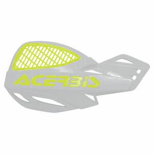 Acerbis Uniko Vented Handguards White/Flo Yellow