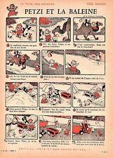 ▬►French Print - HUMOUR Dessin - Petzi et la Baleine VILH. HENSEN 1959