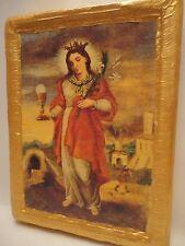 Saint Barbara Santa Barbara Rare Christianity Roman Catholic Icon Art OOAK