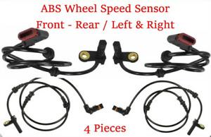 4PCS ABS Wheel Speed Sensor Front+ Rear L + R Fit For Mercedes-Benz W216 W221