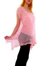 Maglie e camicie da donna in misto cotone con girocollo taglia 42