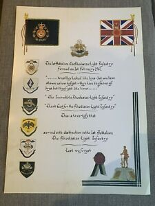 The Rhodesian Light infantry Service Scroll