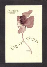 POSTCARD:  RAPHAEL KIRCHNER - CLOVER SERIES, Pub. by BACK & SCHMITT - Mailed '03