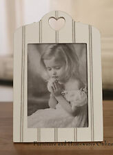 Heart Antique White Photo Frame Picture Frame Provincial 6x8in Size BRAND NEW