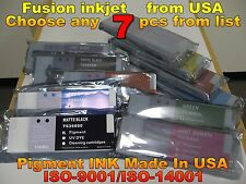Any 7 pc Epson Stylus Pro 7700 9700 7900 9900 7890 9890 T636200 ink not oem gh