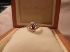 VINTAGE RUBY & DIAMOND 14KT YELLOW GOLD RING
