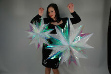 STUNNING IRIDESCENT 3FT AND 2FT STARS CHRISTMAS DECORATIONS PACK - ELEGANT