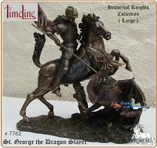 Time Line, Large Resin/Bronze St. George the Dragon Slayer on base # 7762
