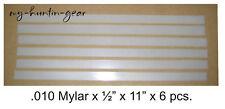 "Mylar Reeds for Duck Goose Turkey Deer Calls .010 x 1/2"" x 11"" 6 Qty Diy"