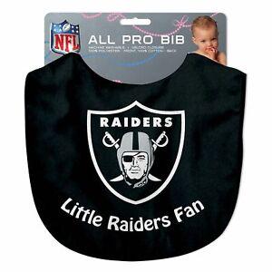 Las Vegas Raiders NFL Little Fan Baby Feeding Bib Infant Toddler Newborn Shower
