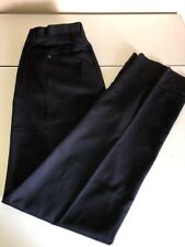 Kings Court  Navy Pleated Pant With Teflon Fabric Protectant Size W38 X L40 Unhe