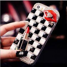 Hot Luxury Bling Diamond Rhinestone Crystal Hard Clear Case Cover For Cell Phone