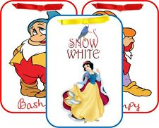 Snow White 10 original cartoon images tent cards party decoration