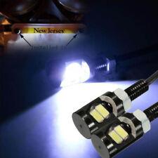 White LED Universal Motorcycle Car License Plate Screw Bolt Light Bulb
