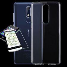 Silikoncase Transparent Sac + 0,3 h9 2.5 verre pour Nokia 5.1 2018 Housse Cover