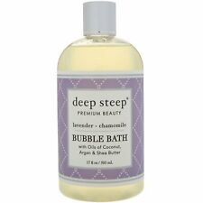 Deep Steep Bubble Bath Lavender - Chamomile 17 fl oz 503 ml Cruelty-Free, Vegan