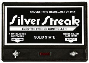 Fence Charger  Silver Streak 541 Solid State  (Free Lightning Fuse & Diverter)