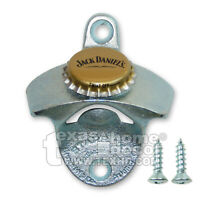 Jack Daniel's Beer Cap Soda Bottle Opener Wall Mounted Cast Iron Zinc Plated