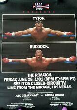 Mike Tyson vs Razor Ruddock The Rematch fight poster
