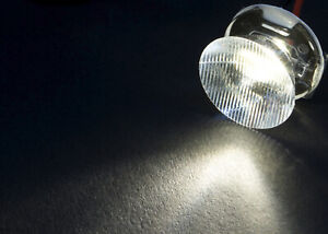 2 Stk Ledil Linse CA11389 EMILY O LED-Optik Klar Geriffelt Transparent 10 ° 44 °