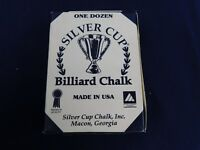 Vintage Silver Cup Pool Snooker Billiard Cue Tip Table Chalk Gray NOS