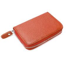 Porte-monnaie et portefeuilles Zip complet marrons pour femme