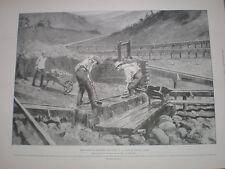 Washing for gold Bonanza Creek Klondike Canada 1898 print