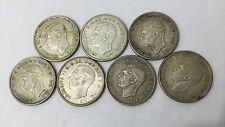 7 (Seven) x Genuine 1937 Australian Crown Silver Coins
