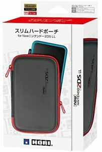 [2DS LL compatible] Slim hard pouch for New Nintendo 2DS LL Black ... From Japan