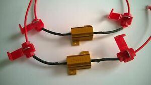 2x NEW BA15S 382 P21W 1156 LED BULB RESISTORS 25W 10 OHM ERROR FREE BRAKE LIGHTS