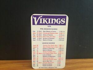 1970 Minnesota Vikings schedule.
